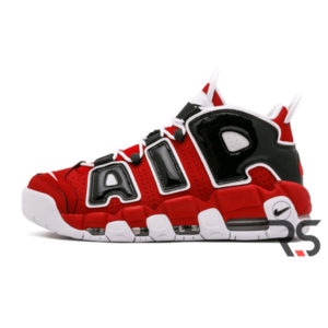 Кроссовки Nike Air More Uptempo Bulls «Red-White-Black»