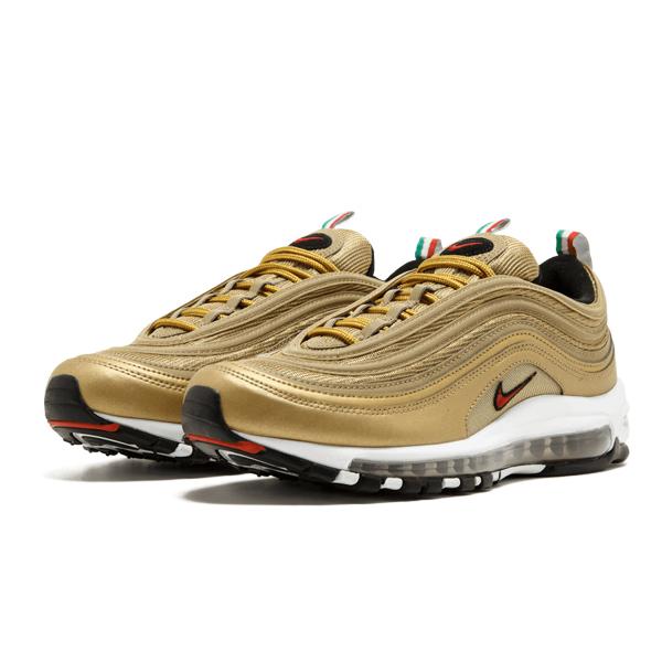 Мужские кроссовки Nike Air Max 97 Metallic Gold «Italy»