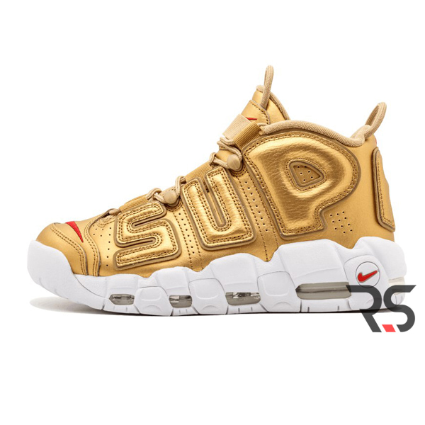 44e900d235ea1 Кроссовки Nike Air More Uptempo Supreme «Gold»(3300-20) купить в ...