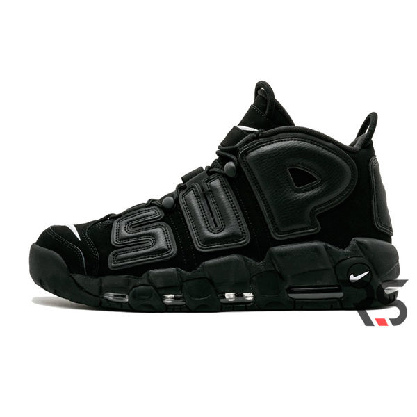 Кроссовки Nike Air More Uptempo Supreme «Black»