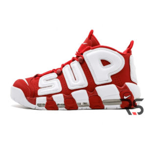 Кроссовки Nike Air More Uptempo Supreme «Red White»