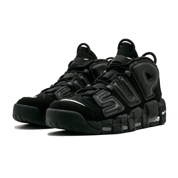 Мужские кроссовки Nike Air More Uptempo Supreme «Black»