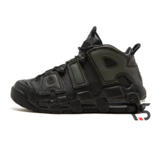 Кроссовки Nike Air More Uptempo «Black-Black-Grey»