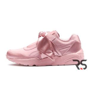 "Женские кроссовки Rihanna x Puma Fenty Bow Sneaker ""Pink Silver """
