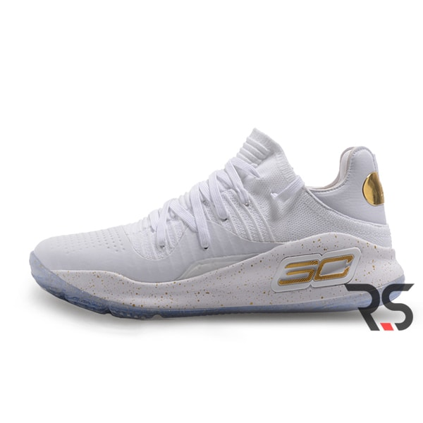 Кроссовки Under Armour Curry 4 Low «White/Gold»