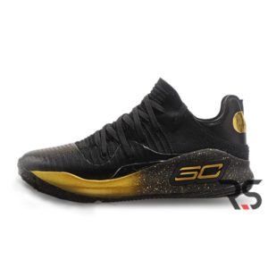 Кроссовки Under Armour Curry 4 Low «Black/Gold»