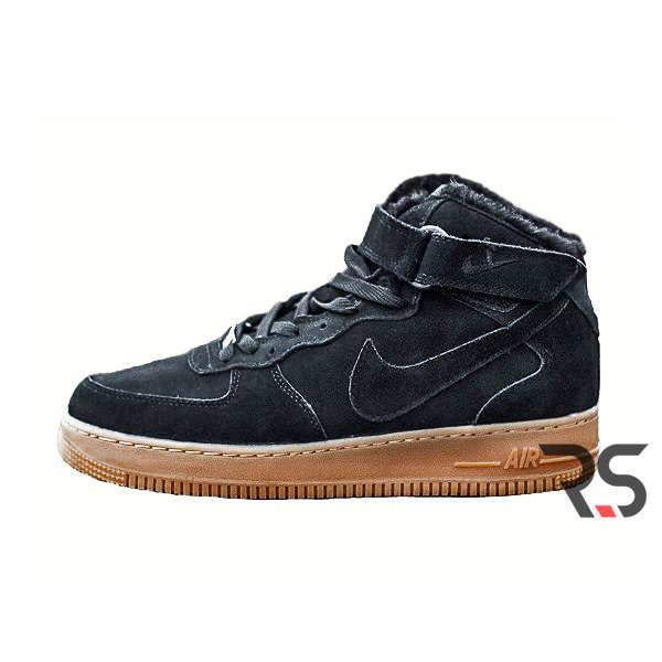 f8f61cd8 Кроссовки Nike Air Force 1 Winter «Black» купить в Украине   Зимние ...