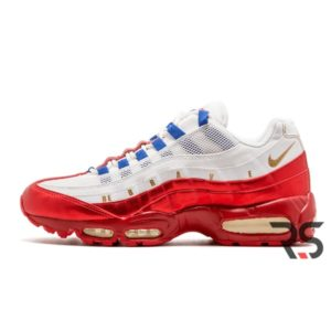 Кроссовки Nike Air Max 95 Be Brave «White/Red»