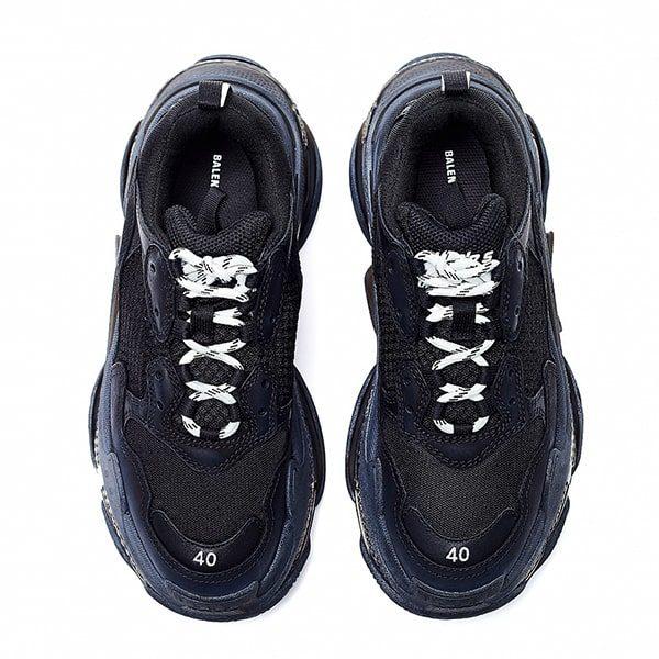 Женские кроссовки Balenciaga Triple S Clear Sole «Black»