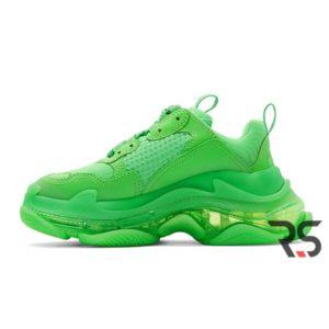 Женские кроссовки Balenciaga Triple S Clear Sole «Neon Green»