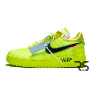 Кроссовки Nike Air Force 1 Low Off-White «Volt»