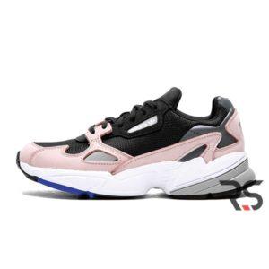 Женские кроссовки Adidas Falcon «Black/Pink»