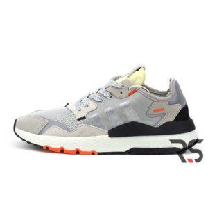 Кроссовки Adidas Nite Jogger «Grey Two/Solar Orange»
