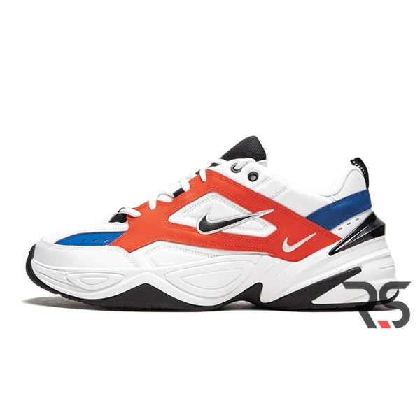 Женские кроссовки Nike M2K Tekno «White/Black/Orange»